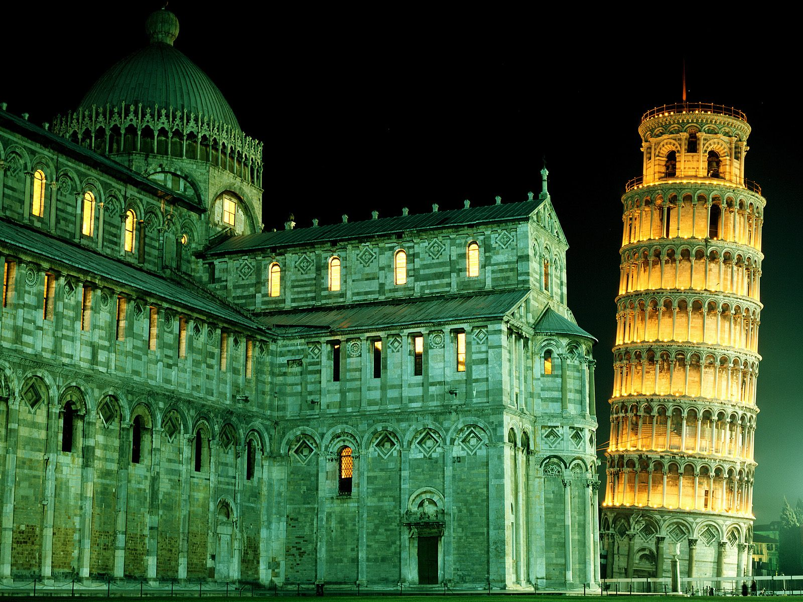 Duomo Leaning Tower Pisa Italy wallpaper