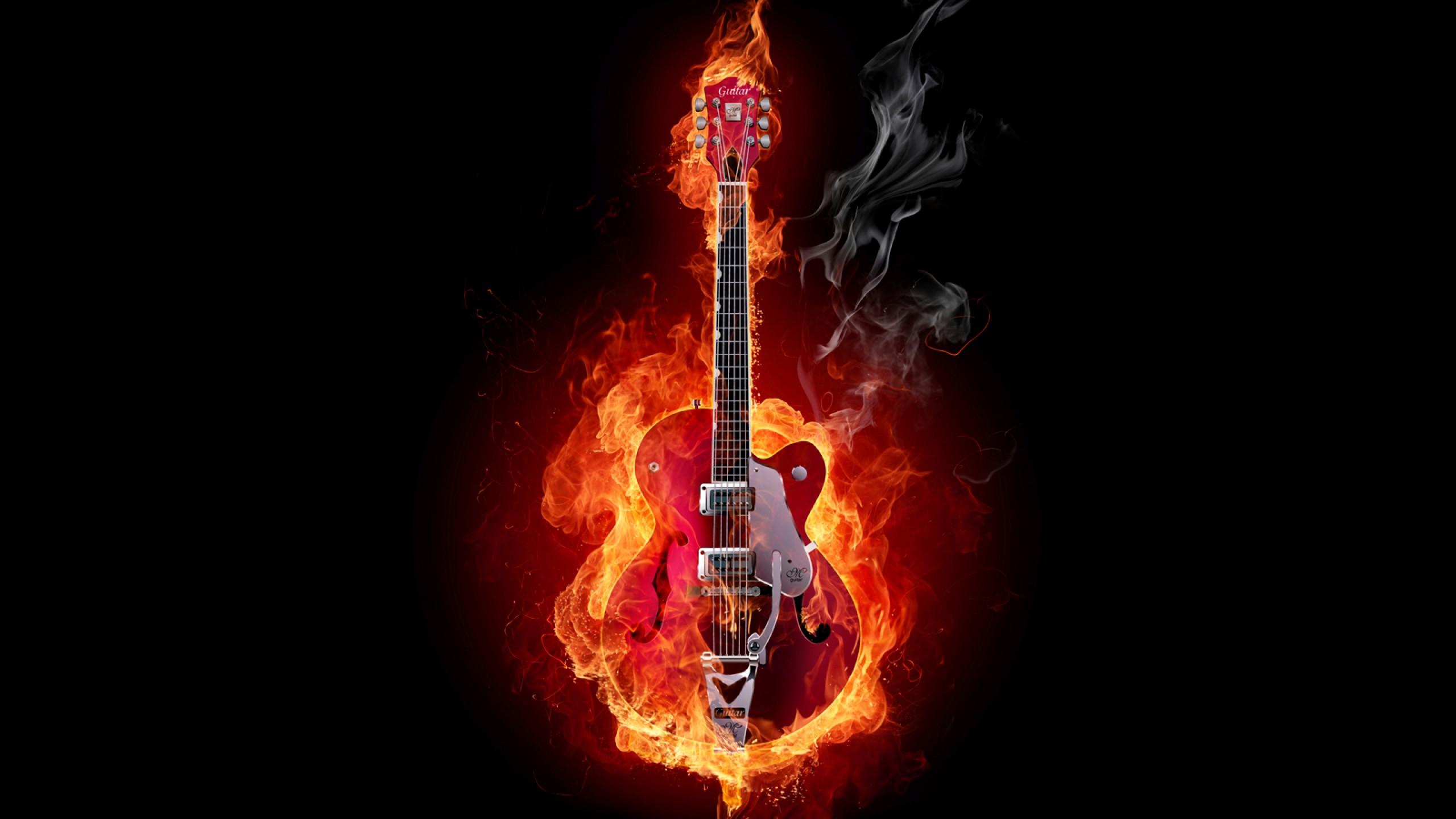 Jordan Carver Guitar Fire Best Flames Hd In 264399 Wallpaper wallpaper