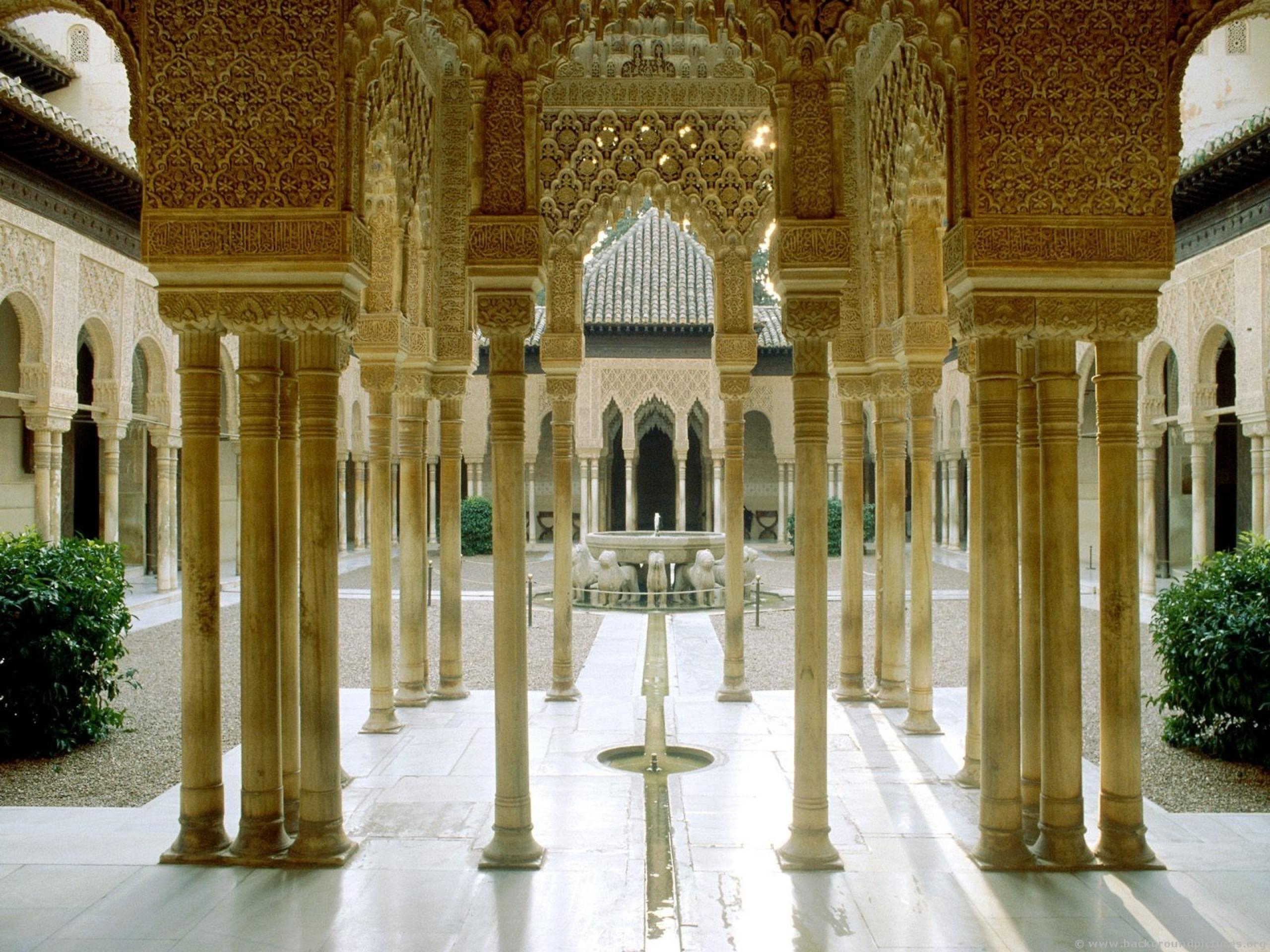 Architecture Alhambra Palace Internal Structure 613655 Wallpaper wallpaper