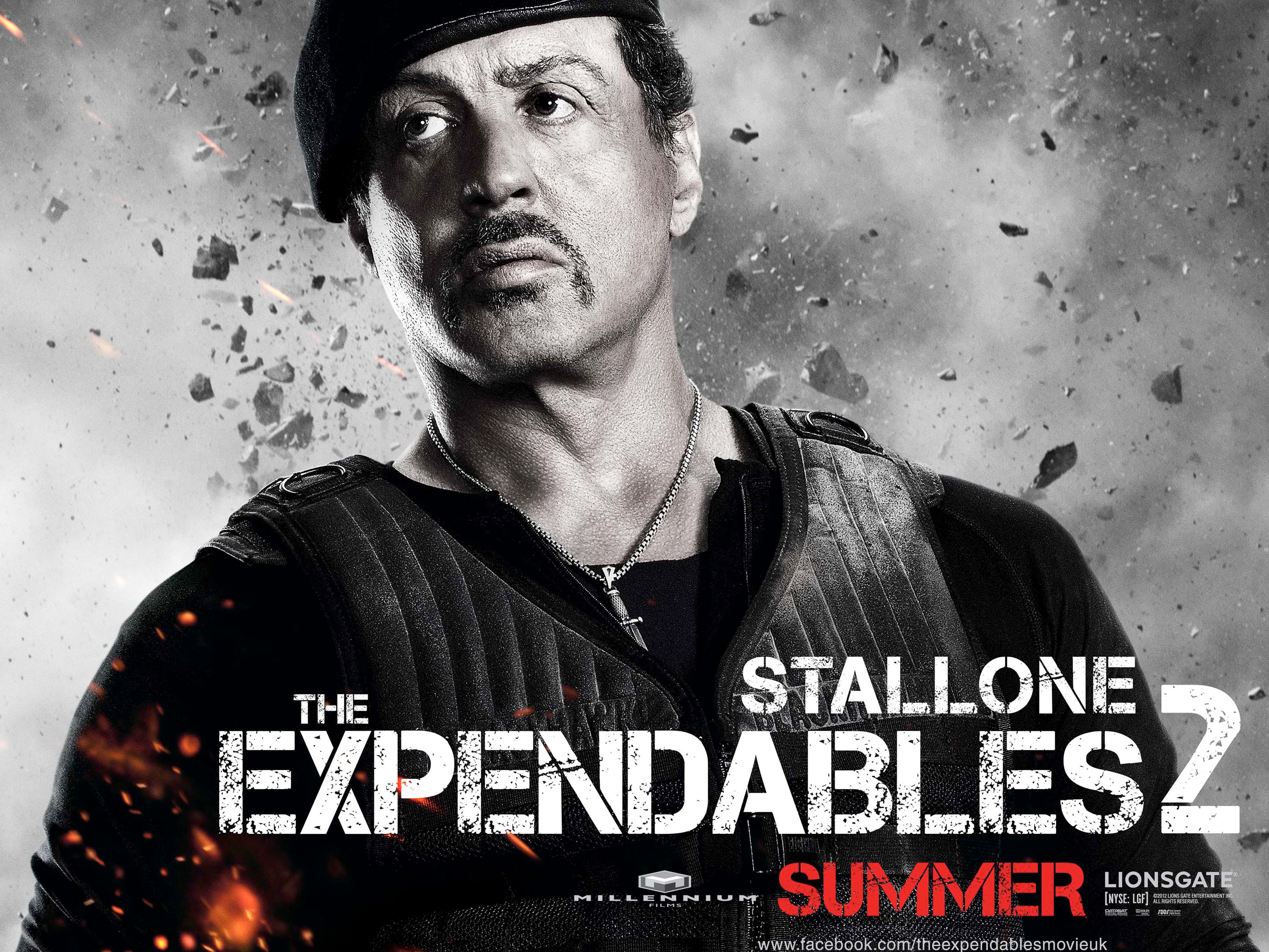 Sylvester Stallone in Expendables 2 wallpaper