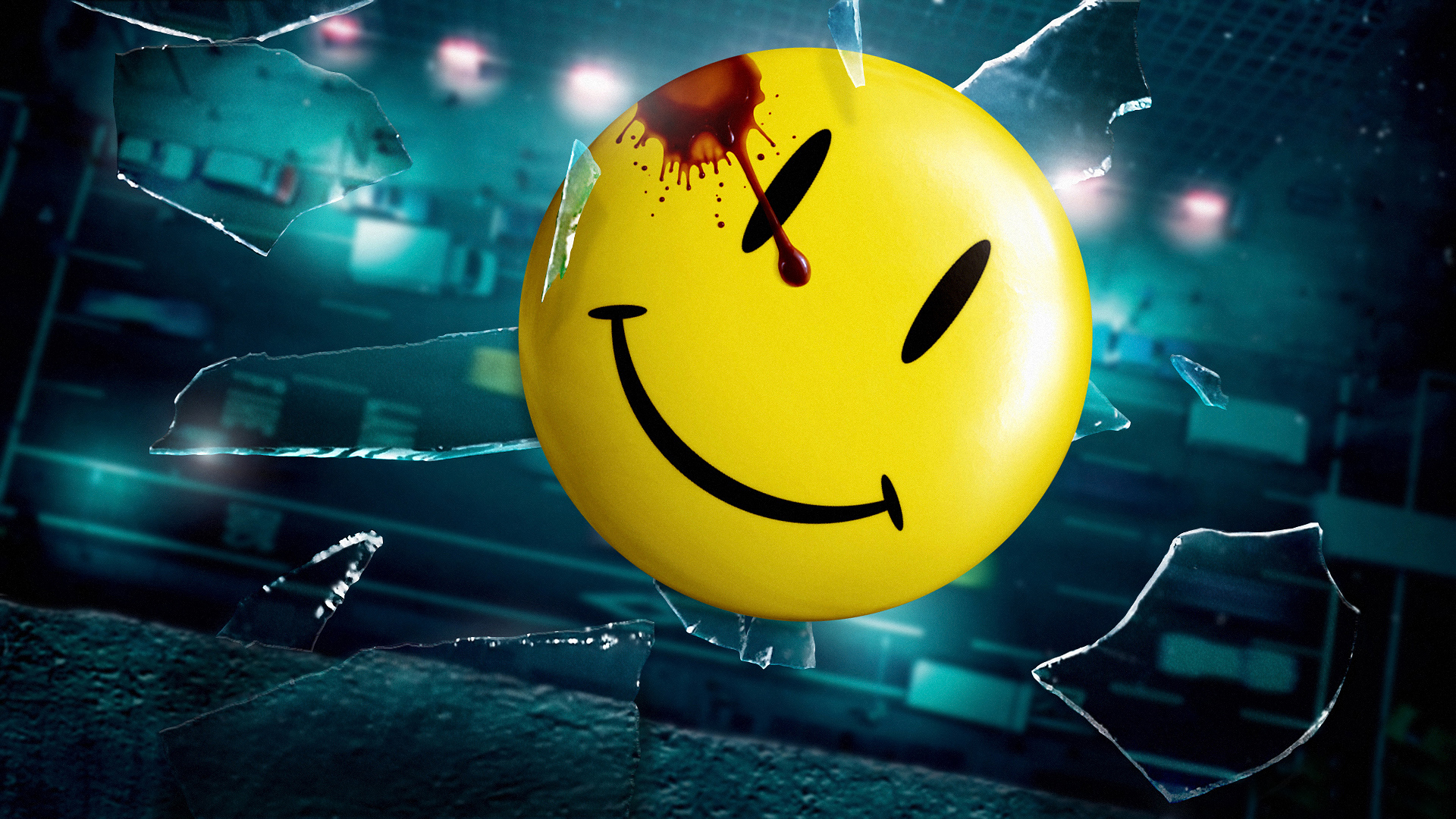 Watchmen Smiley wallpaper