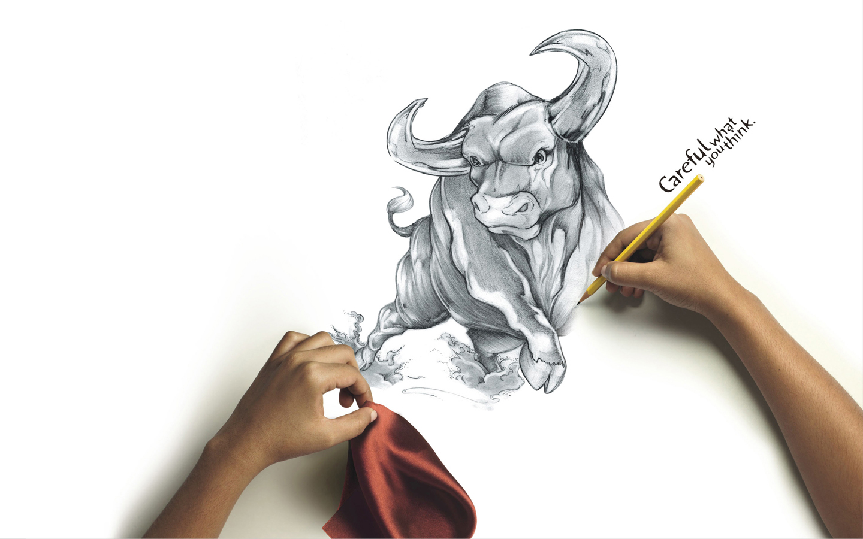 Animals Full Hd Drawings Bulls White 384194 Wallpaper wallpaper