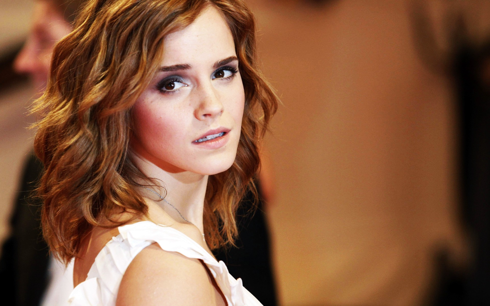 Emma Watson at Metropolitan Muesum 2010 wallpaper download