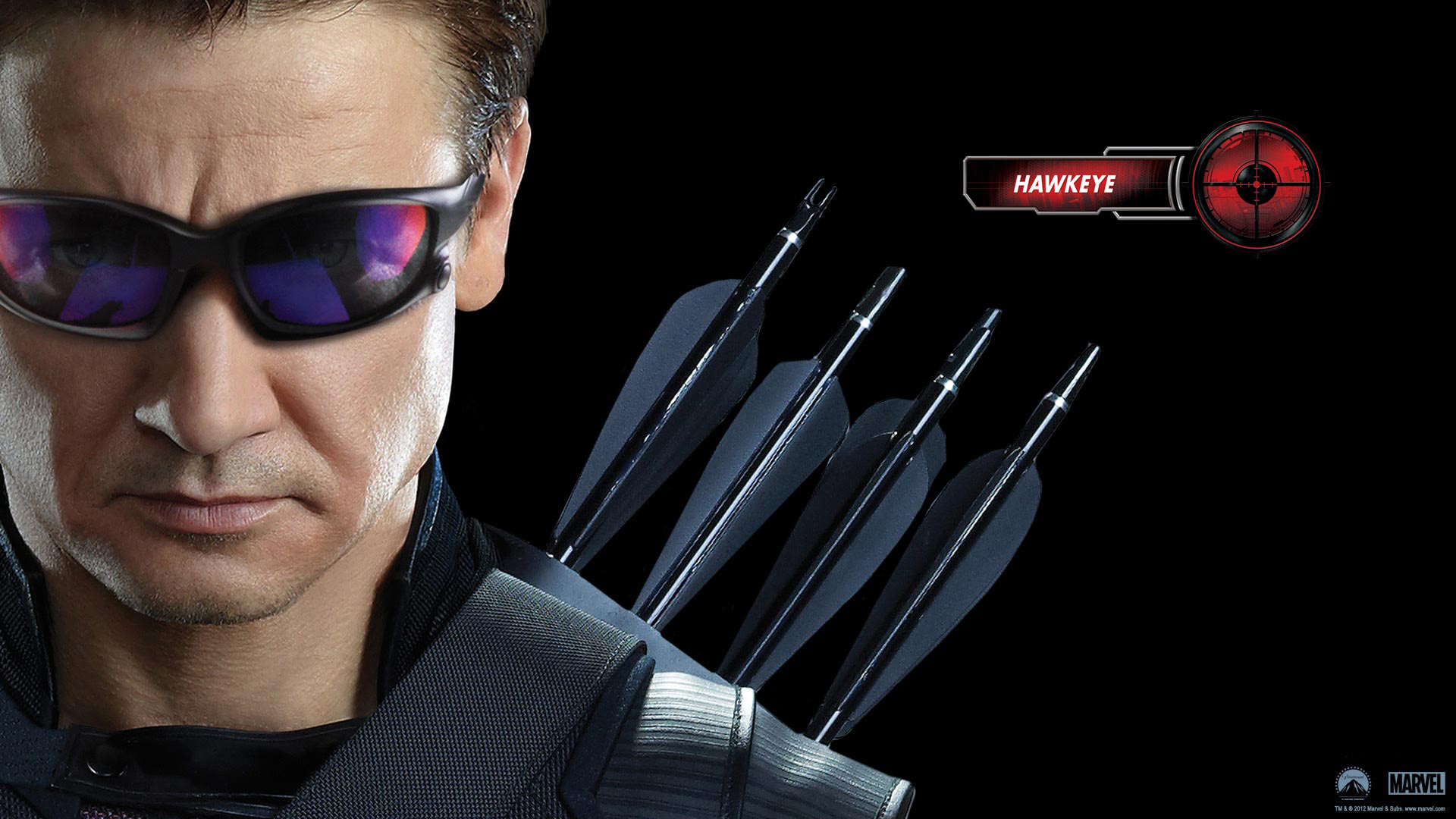 Hawkeye in Avengers Movie wallpaper