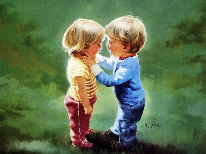 Love Cartoon Children In 79128 Wallpaper wallpaper