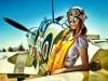Aircraft Spitfire Girl Airfield Military Pilot Vintage 473994 Wallpaper wallpaper
